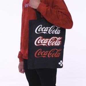 Чёрная сумка-шоппер Coca-Cola Neon Logo